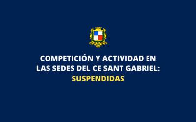 > Se suspende la competición oficial y toda actividad en las sedes del Club