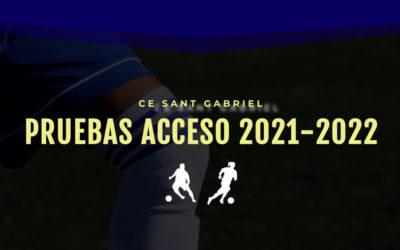 > ¿Quieres jugar en el CE Sant Gabriel? Apúntate a nuestras pruebas de acceso.